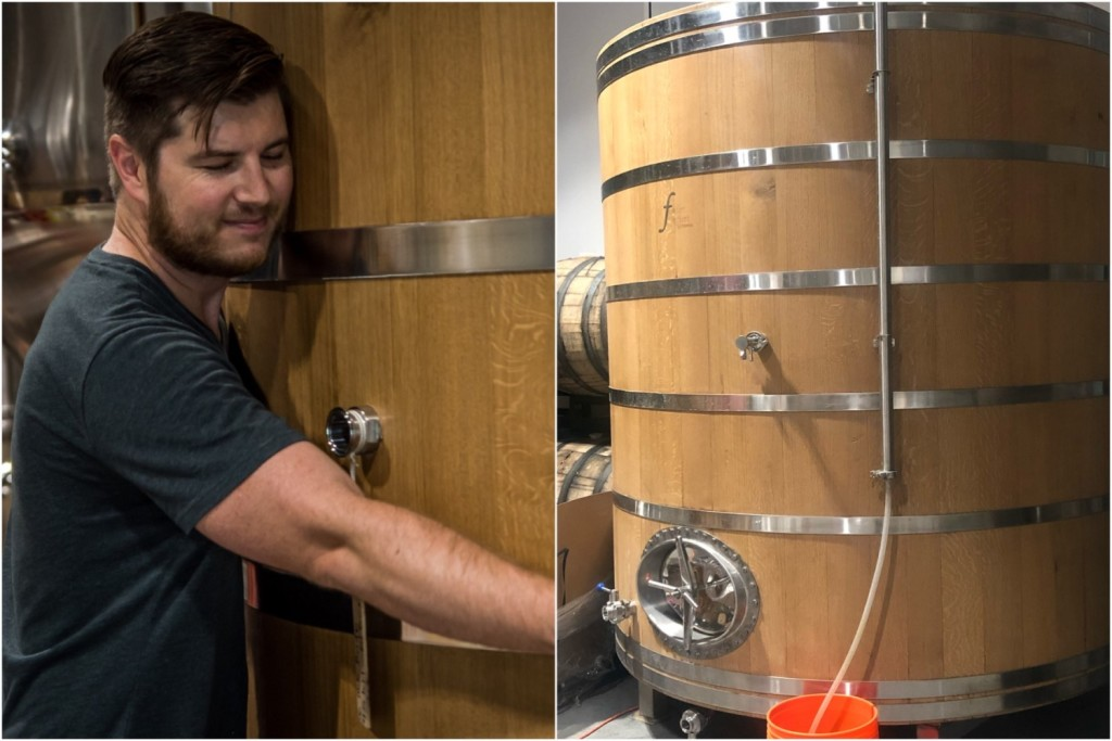 Owner Ryan Sherring has a passion for sour beers and was obviously very excited to add the foeder to Six Mile Bridge.